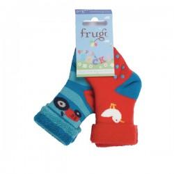 Socks - Grippy Socks 2 Pack FARM  , 2-4y
