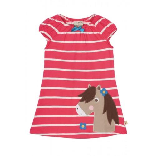 Dress - Frugi Lola  Breton/Pony - 12-18m, 18-24m