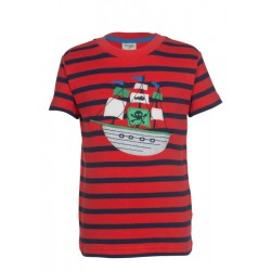 Top - Frugi Ollie-  Red Stripe/Boat -in SALE -  6-7y,, 7-8 in sale