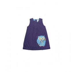 Dress - FRUGI - Owl Applique Cord Dress LAST  6-12m - sale