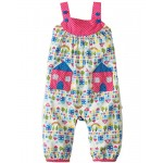 Dungarees - Frugi Springtime Dungaree - Happy Houses - 12-18 (2x), 18-24  - sale