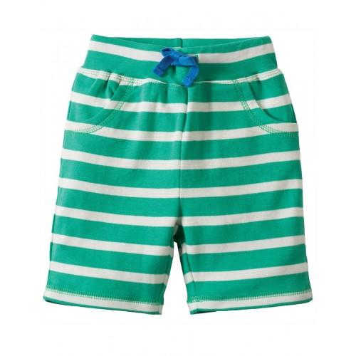 Shorts - Frugi Little Stripy - Jungle Green Breton/Giraffe 12-18 m and  3-4y