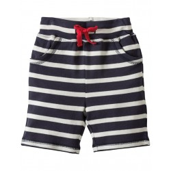 Shorts - Frugi Little Stripy - Navy Breton/Croc 12-18 (2x)  , 18-24m - sale