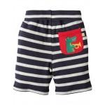Shorts - Frugi Little Stripy - Navy Breton/Croc 12-18, 18-24, 2-3, 3-4