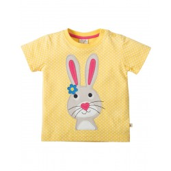 Top -  Frugi - Little Cove  - Sun Yellow Pin Spot Bunny - 0-3, 3-6,  6-12 - sale
