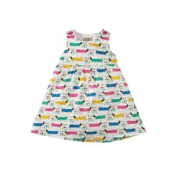 Dress - Frugi Little Pretty Party Dress - Dotty dogs  - 12-18m