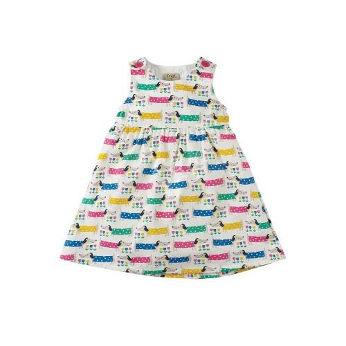 Dress - Frugi Little Pretty Party Dress - Dotty dogs  - 12-18m