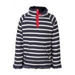 Fleece - Frugi Reversible Snuggle - Navy Mid Breton 5-6, 7-8, 9-10 - sale