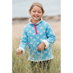 Fleece - Frugi Reversible Snuggle - Sky Starfish  7-8, 8-9y - sale