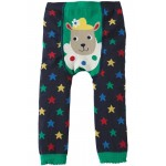 Leggings - Frugi Little Knitted Leggings - Navy Stars and Sheep - 2-4y  - last one in sale
