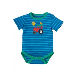 Body - Frugi Lowen Body - Sail Ocean Stripe/Tractor 18-24m - sale