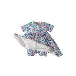 Romper/Dress - Frugi Romper Dress - Ditsy Garden 6-12, 18-24