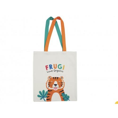 Bag - FRUGI - Canvas Tote Bag - Soft White Tiger -last 4 in sale