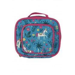 Bag - Frugi - Pack a Snack - Lunch Bag - Teal Indian Horses - SS21