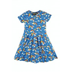 Dress - Frugi - Skater Dress - Rainbow Blue Skies  and Sun - Short Sleeved - 0-3, 3-6, 6-12, 12-18, 18-24m and  2-3, 3-4, 4-5, 5-6, 8-9,  9-10 sale