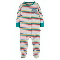 Babygrow - Frugi -  Soft Multi stripe Elephant - 0-3 and  3-6m  - sale