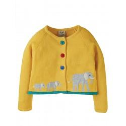 Cardigan - Frugi - Annie - Elephant - 0-3, 3-6, 6-12m and  3-4y sale