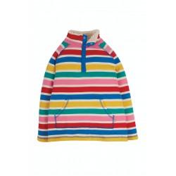 Fleece - Frugi - White Multi Rainbow Stripe - SS21  - sale