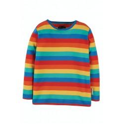 Top - Frugi - Favourite - Long Sleeve - Rainbow Bright Stripe -  SS21 -  sale