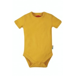 Body - Frugi - Everyday  - Short Sleeve Body - Bumble Bee Yellow - 0-3m  and 2-3 sale