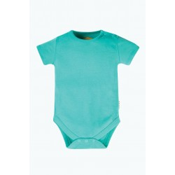 Body - Frugi - Everyday - Short Sleeve Body - Pacific Aqua Blue - 0-3, 3-6, 6-12, 12-18, 18-24 and 2-3 sale