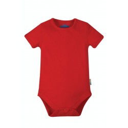 Body - Frugi - Everyday Short Sleeve Body - True Red -  0-3, 3-6, 6-12, 12-18, 18-24 and 2-3 y sale
