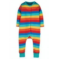 Babygrow - Frugi - Riley Romper - Rainbow Stripe - 0-3, 12-18, 18-24m - last 3 in  sale