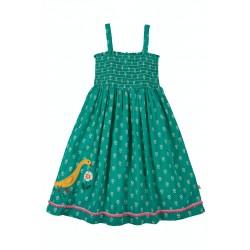 Dress - Frugi - Cora - 2 in 1 - Skirt or Dress - Jewel Green - Jasmine Duck - 18-24m and  2-3, 3-4, 4-5, 5-6 , 7-8, 9-10yr  sale