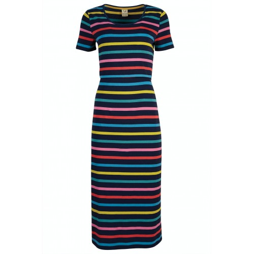 Adult - Frugi - Melanie Nursing Dress - India Ink Stripe - SS21 - sale