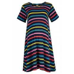 Adult - Frugi - Naomi Maternity Dress  with Pockets - India Ink Stripe - SS21 - sale