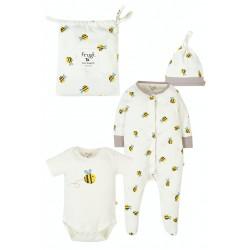 Babygrow Set - Frugi - Baby Gift Set - Buzy Bee - worth £37 - available £25