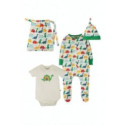 Babygrow set - Frugi - Rainbow Dinos Gift Set -  Rainbow Dinos - SS21
