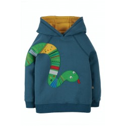 Hoody - Frugi - Hedgerow - India Ink Blue and Snake - SS21 - sale