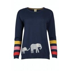 Adult - Frugi - Josie Jumper - Blue Indigo Elephant - SS21 - sale