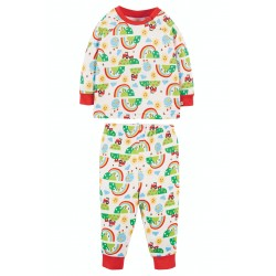 Pyjamas - Frugi - Polperro PJ - Happy Days - Farm Tractors  and rainbow  - sale