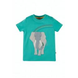 Top - Frugi - Carsen - Pacific Aqua Elephant - SS21