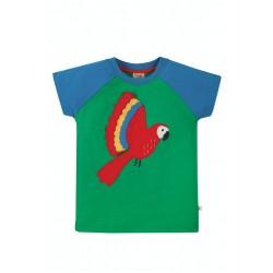 Top - Frugi - Rafe - Green Parakeet - SS21