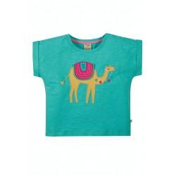 Top - Frugi - Sophia - Pacific Aqua Camel - SS21