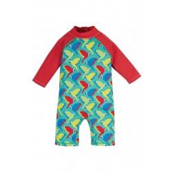 Sunsafe suit  SWIM - Frugi - Aqua Parrots - SS21