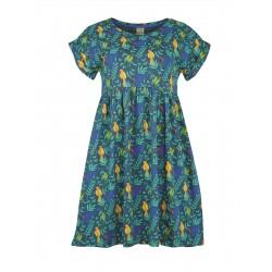 ADULT - Frugi - Callie Slub Dress - Indian Parakeets - SS21