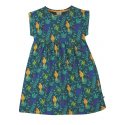 Dress - Frugi - Faith - Slub Dress - Indian Parakeets - SS21