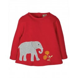 Top - Frugi - Connie - Red Elephant - SS21