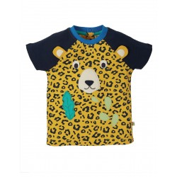 Top - Frugi - Happy Raglan - Short Sleeve - Leopard Spot - SS21