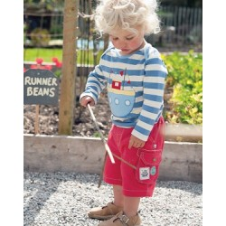 Shorts - Frugi Baby Explorer in red 0-3m - last one in sale