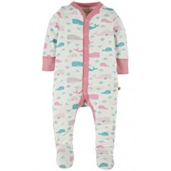 Babygrow - Frugi - My first - Darling Summer seas - 0-3, 3-6m  - Sale