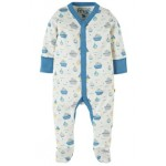 Babygrow - Frugi - My first - Darling Little Whale 0-3, new SS18