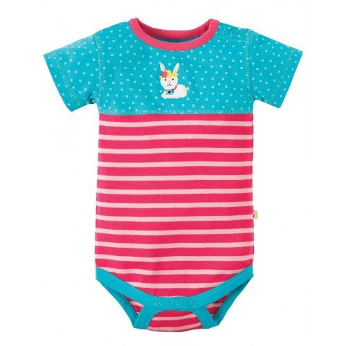 Body - Frugi - Percy - Pink Bunny - NB, 0-3, 3-6, 12-18, 18-24 - sale