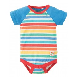 Body - Frugi - Reggie Raglan Body - Rainbow Candy Stripe - short sleeve - 3-6, 12-18, 18-24m  sale