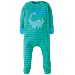 Babygrow - Frugi - Zipped - SS18 - drop 3-   Jungle Breton/Dino- 0-3, 3-6, 6-12