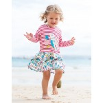 Dress - Frugi - Hetty - Pink Tiny Breton/Bird 12-18, 2-3y
